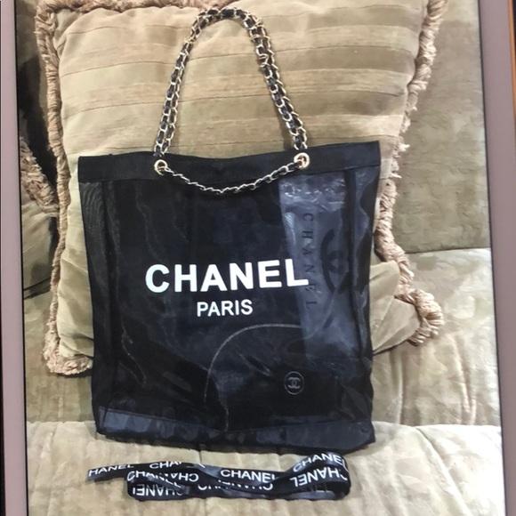 17deab88756d Chanel Paris VIP Mesh Tote Black. Listing Price   110